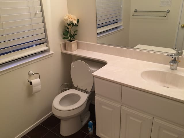 enjoy a private bathroom with your own shower