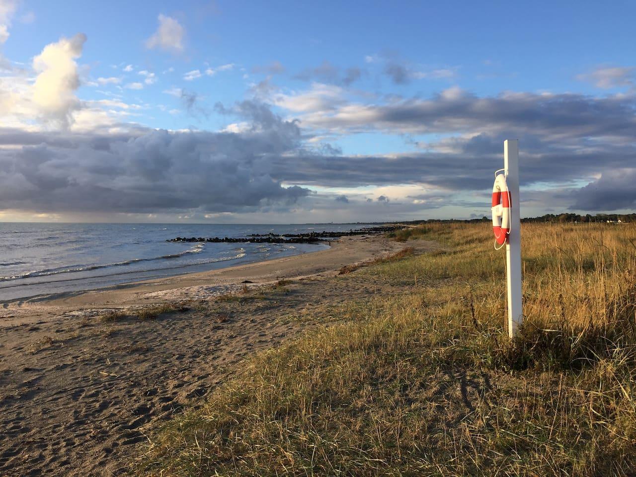 About 700 meters to Vangen beach.