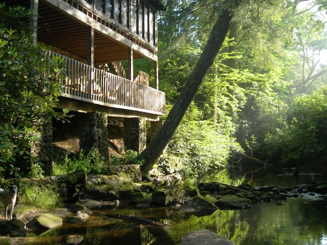 Private Log Cabin on Big Creek, Dogs welcome