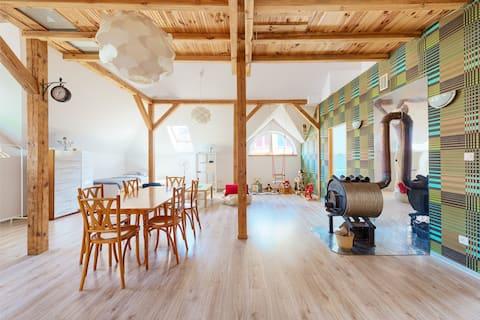 Apartamento espaçoso com antresola, 120m2