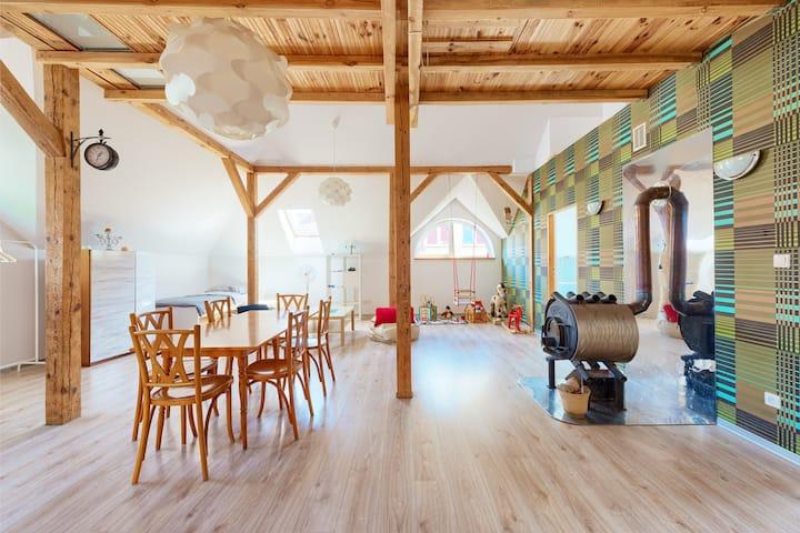 Spacious apartment with antresola, 120m2