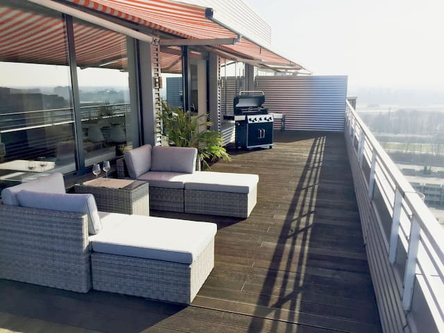 150qm Penthouse | 150qm Dachterrasse | Rheinblick