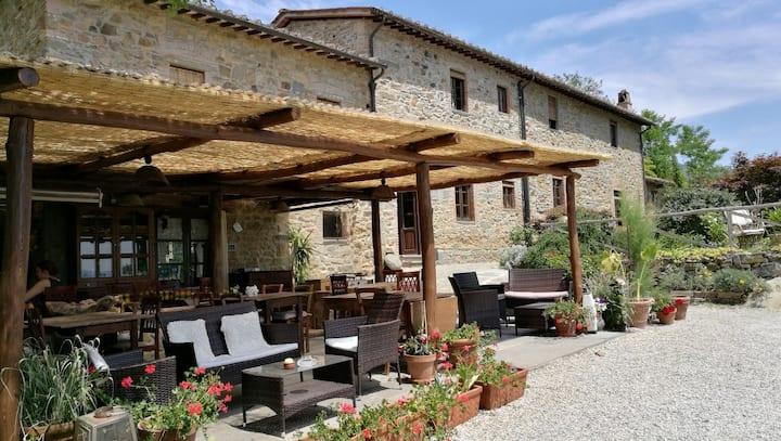 1500 Century,  Fagianaia stone villa in Tuscany
