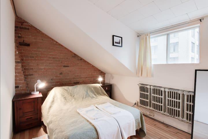 Exposed Brick room in super loft