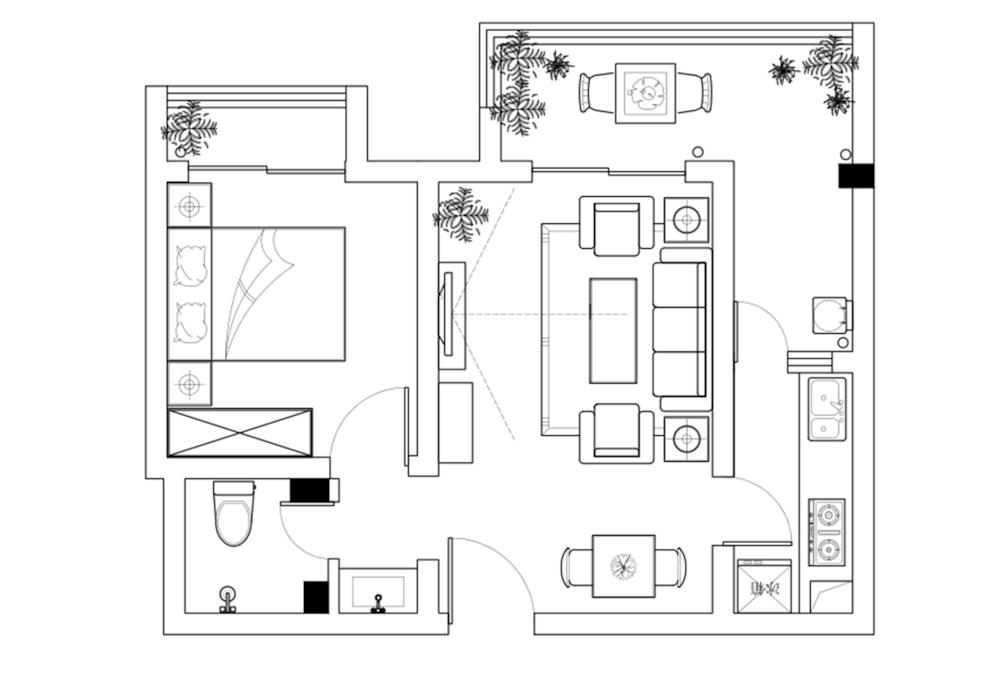 小家户型图哦,功能分明哒