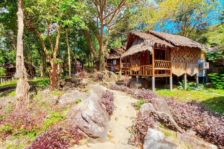 Budget Bamboo Bungalow with Fan