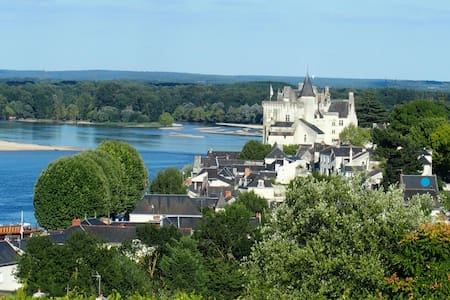 Un jardin suspendu sur la Loire . - Montsoreau