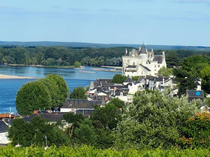 Un jardin suspendu sur la Loire .