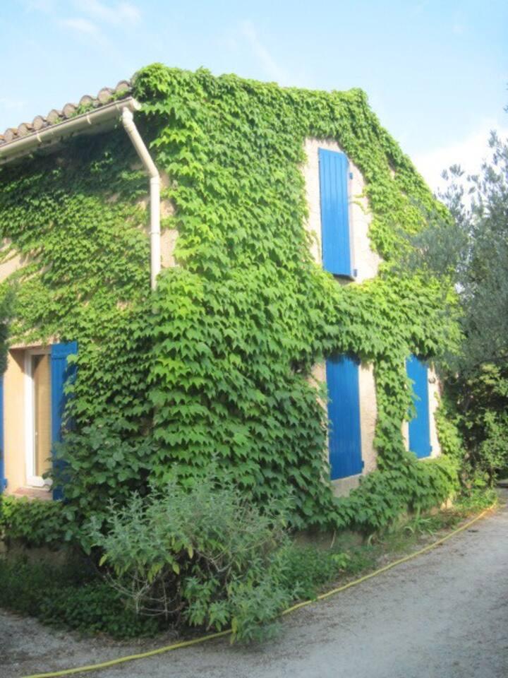 maison paisible, jardin, vue sur le Luberon!