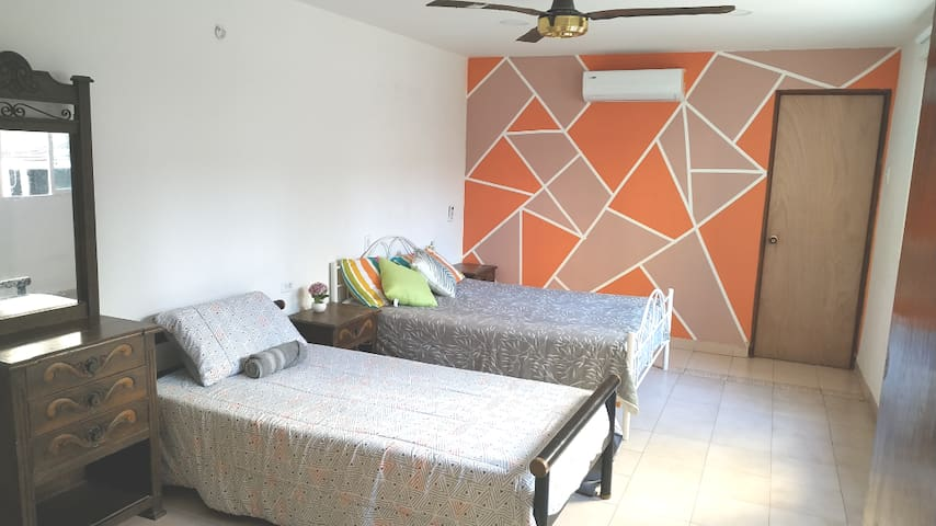 3 Comfortable room with private Bathroom and A/C
