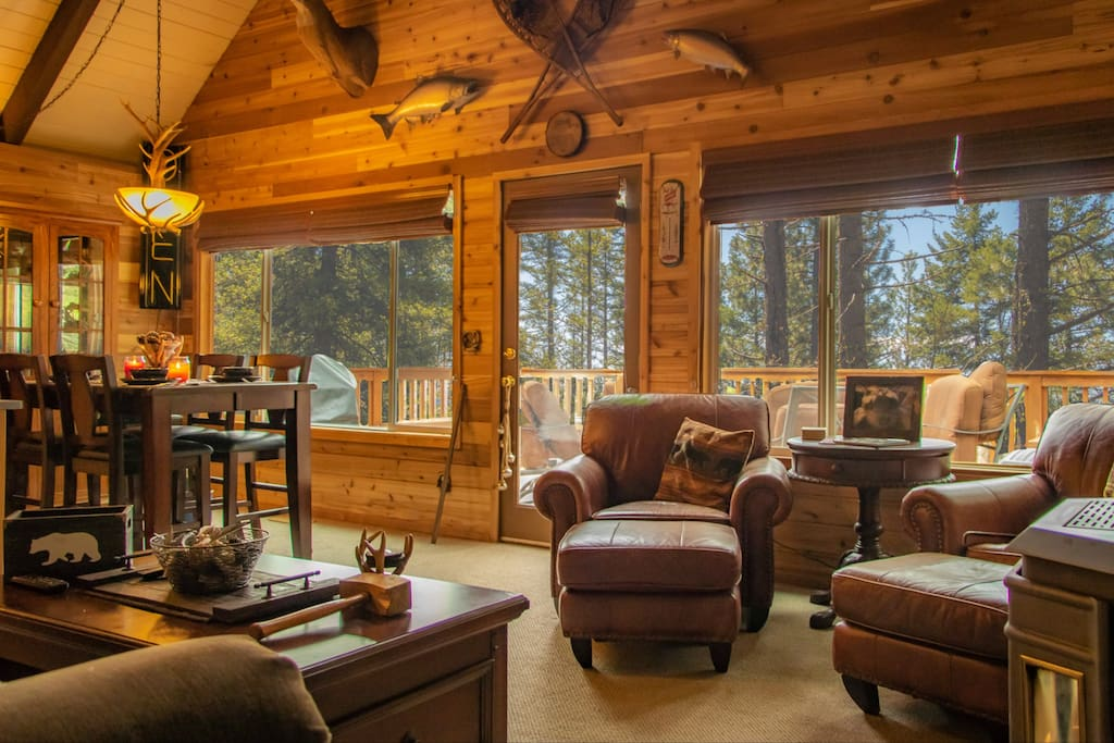 Enjoy the view while still inside the main floor living and dining room
