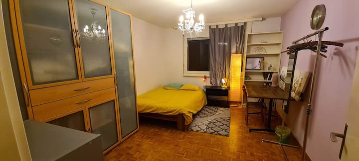 Room with lake view in a 120m2 apartment