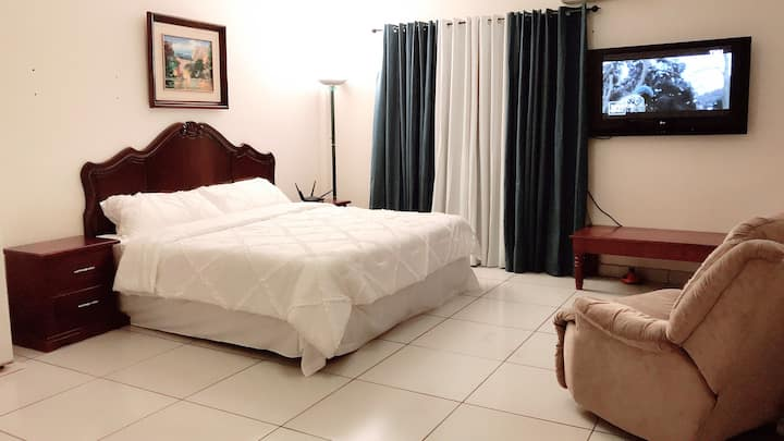 (A)Spacious Executive Hotel like BR, King bed, A/C