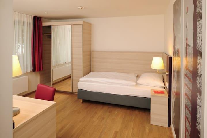 Haus Insel Reichenau - FamilienFerien Freiburg, (Reichenau), Einzelzimmer mit einem Einzelbett, DU/WC