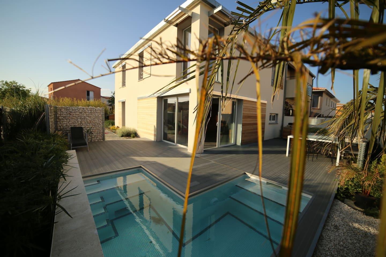 mini piscine + terrasse