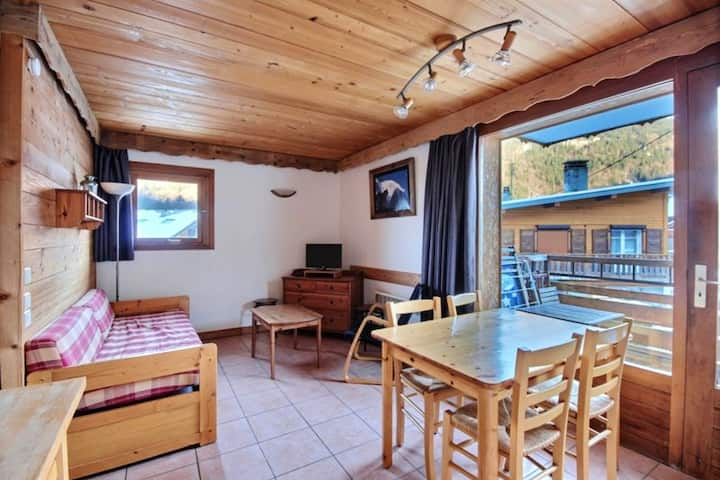 Apartment with one bedroom in Morzine, with balcony and WiFi - 700 m from the slopes