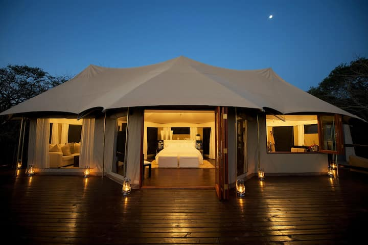 Romantic African Tent with Private Pool and Spa