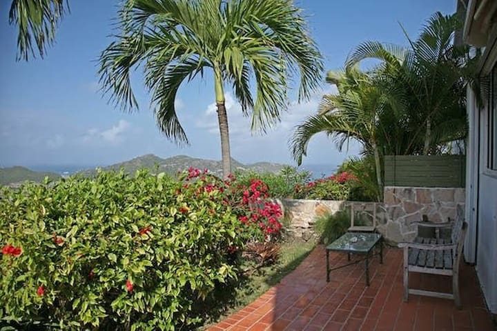 tropical patio + pool w/ great view - Gustavia - Apartment
