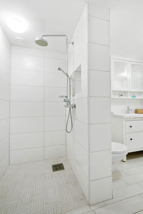 Shower inside of bathroom 1