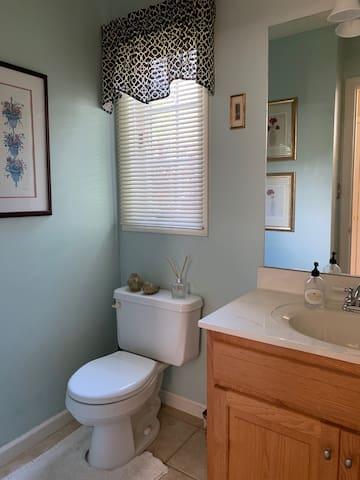 Downstairs half bath (+two additional full baths)