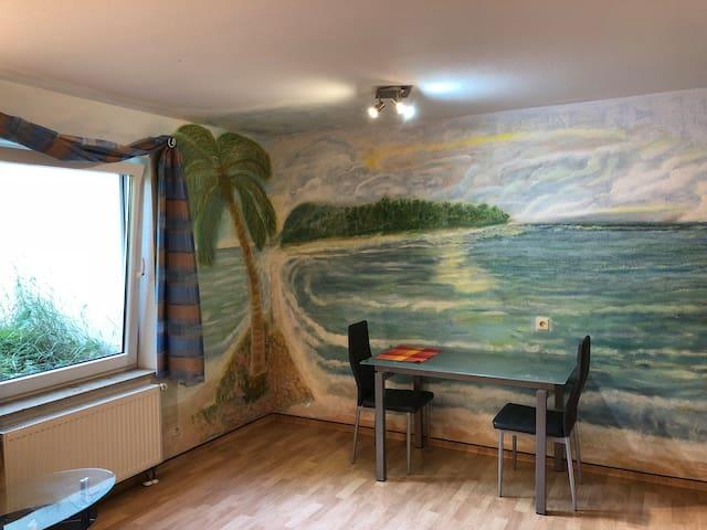 Einzimmerwohnung mit Südsee und Sonnenuntergang