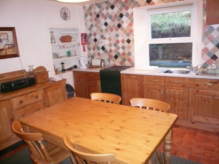 Coach House, Kitchen and Dining Room, Lakes Cottage Holidays