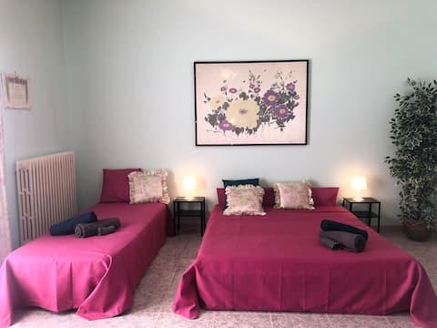Priestranná a svetlá izba v srdci mesta Salento