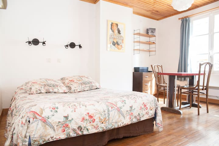 Quiet & charming one-room apartmnt