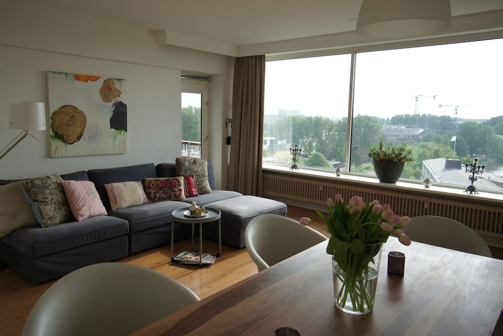 Spacious apartment with a view over amsterdam for Appartamenti in centro amsterdam