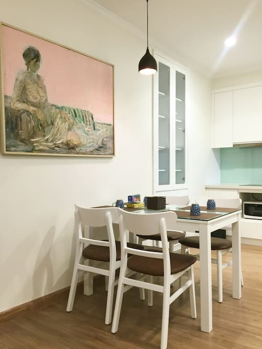 Dining table & chairs   Art paintings & Wooden arts