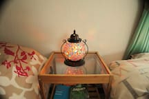 Feel comfortable bed and light