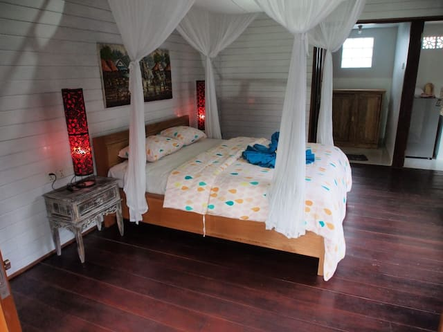 This bedroom from IN wooden house