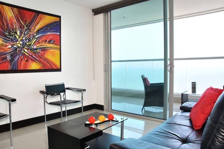 1BR - luxury Floor25 stunning view! - Cartagena