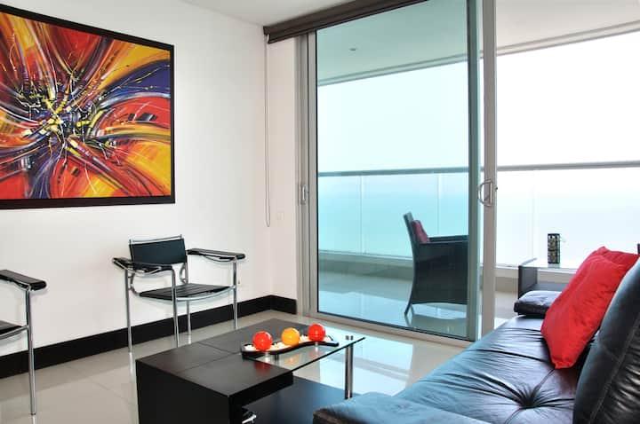 1BR - luxury Floor25 stunning view!