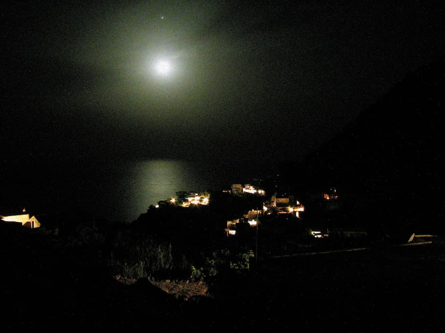 View from level three of the house during full moon