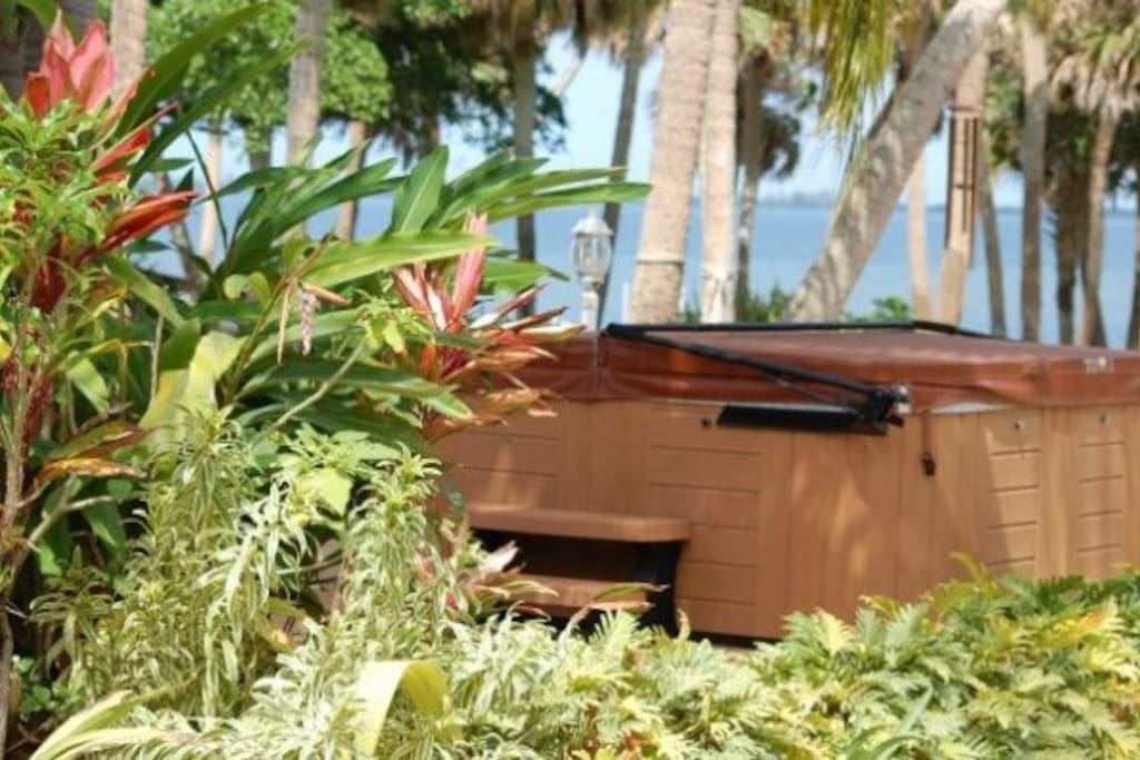 Hot tub with water views- currently being repaired