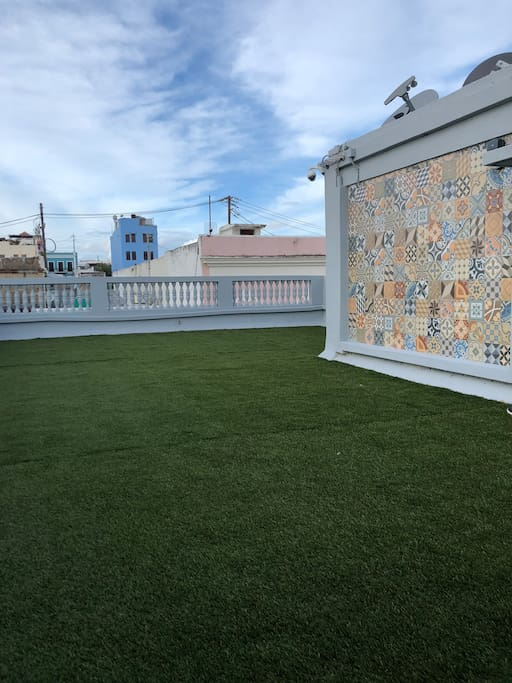 Our Roof Top Grass Terrace.