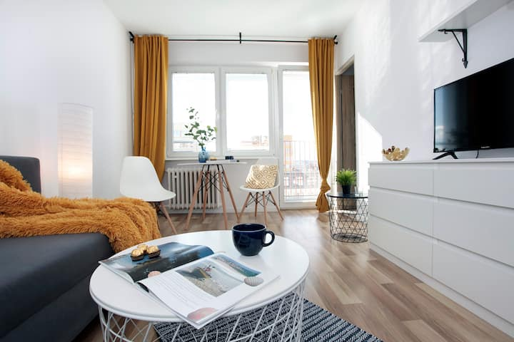 Apartament Bursztynowy (2 pokoje / 15min do plaży)