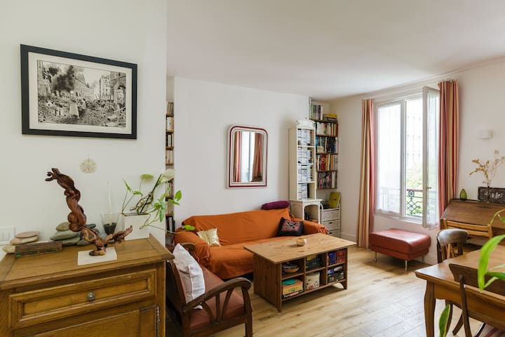 Lovely 650 sq ft flat Menilmontant