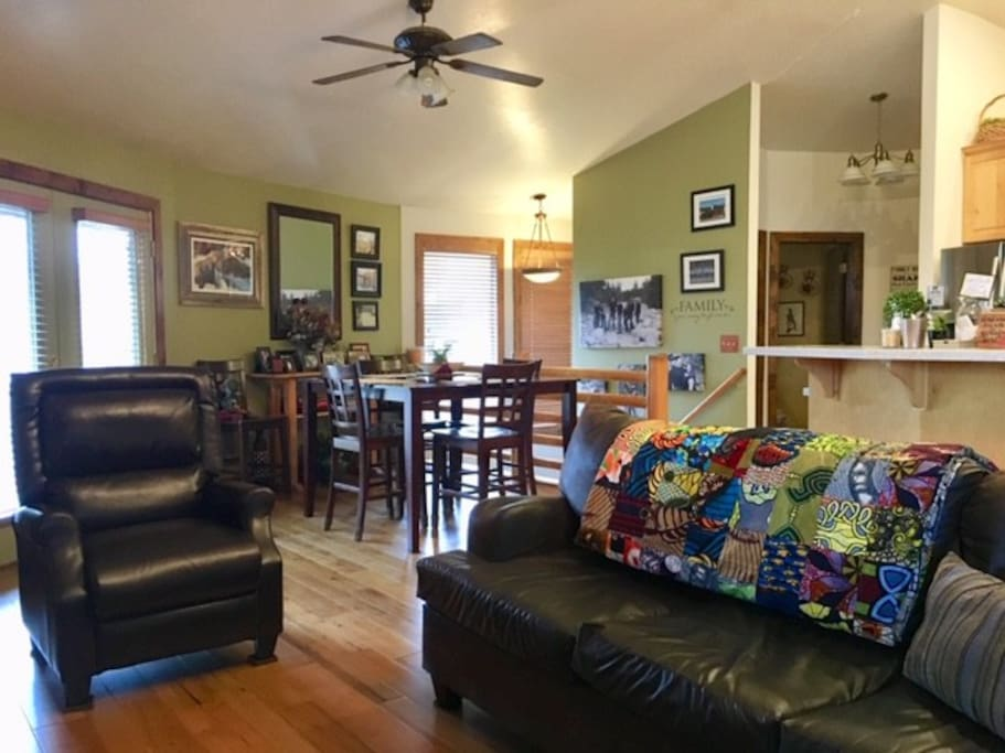 View of shared living and dining areas.