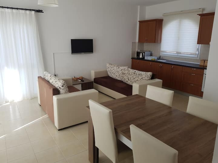 Aphrodite beachfront - Two bedroom terrace apt
