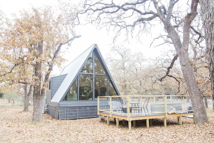 Modern A-Frame Cabin in Nature, Minutes from Main