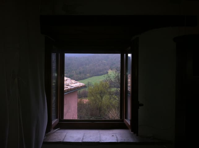 a view from the bedroom
