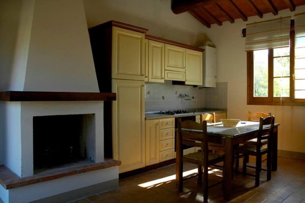Cucina-soggiorno Appartamento Folaga