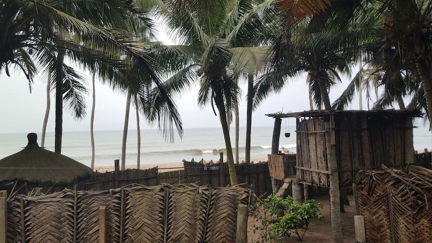 Sand beach house