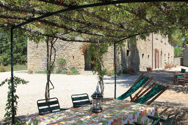 Outdoor furnished loggia for private use of the guests