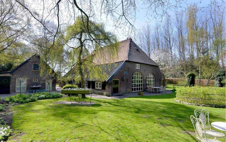 Knus bakhuis met vuurplaats/buitenplaats/outdoor