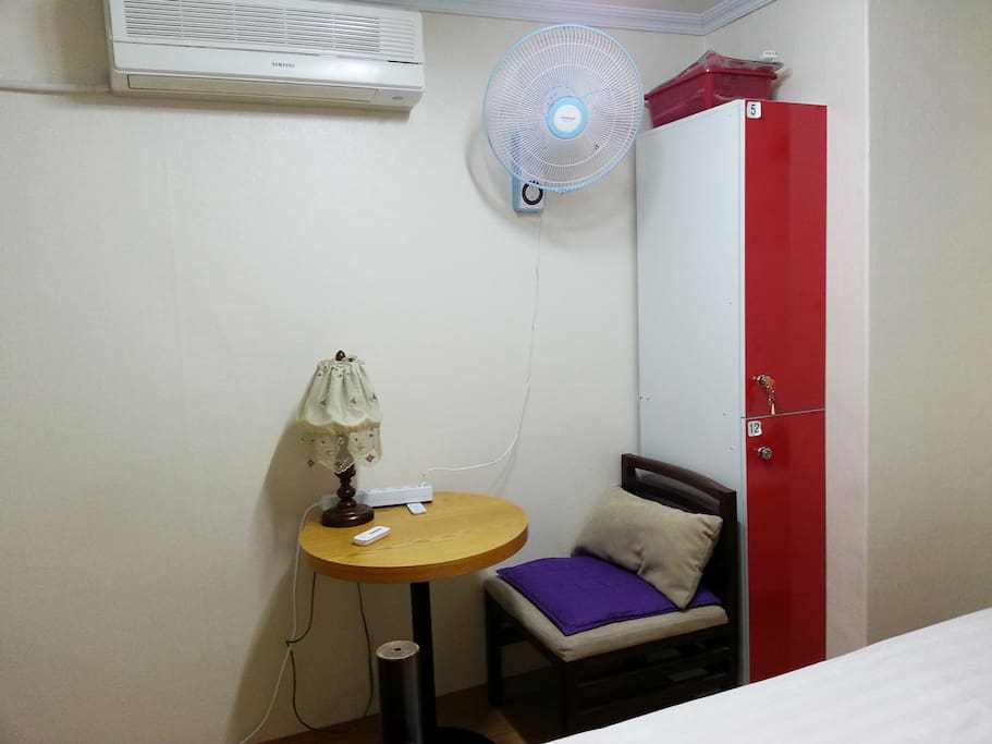 Santa room(closet, , air conditioner, fan, tea table, chair)
