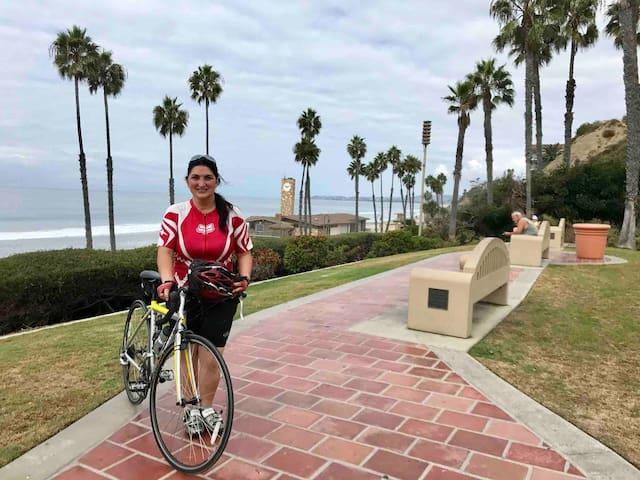 Biking from Dana Point to San Clemente Pierre