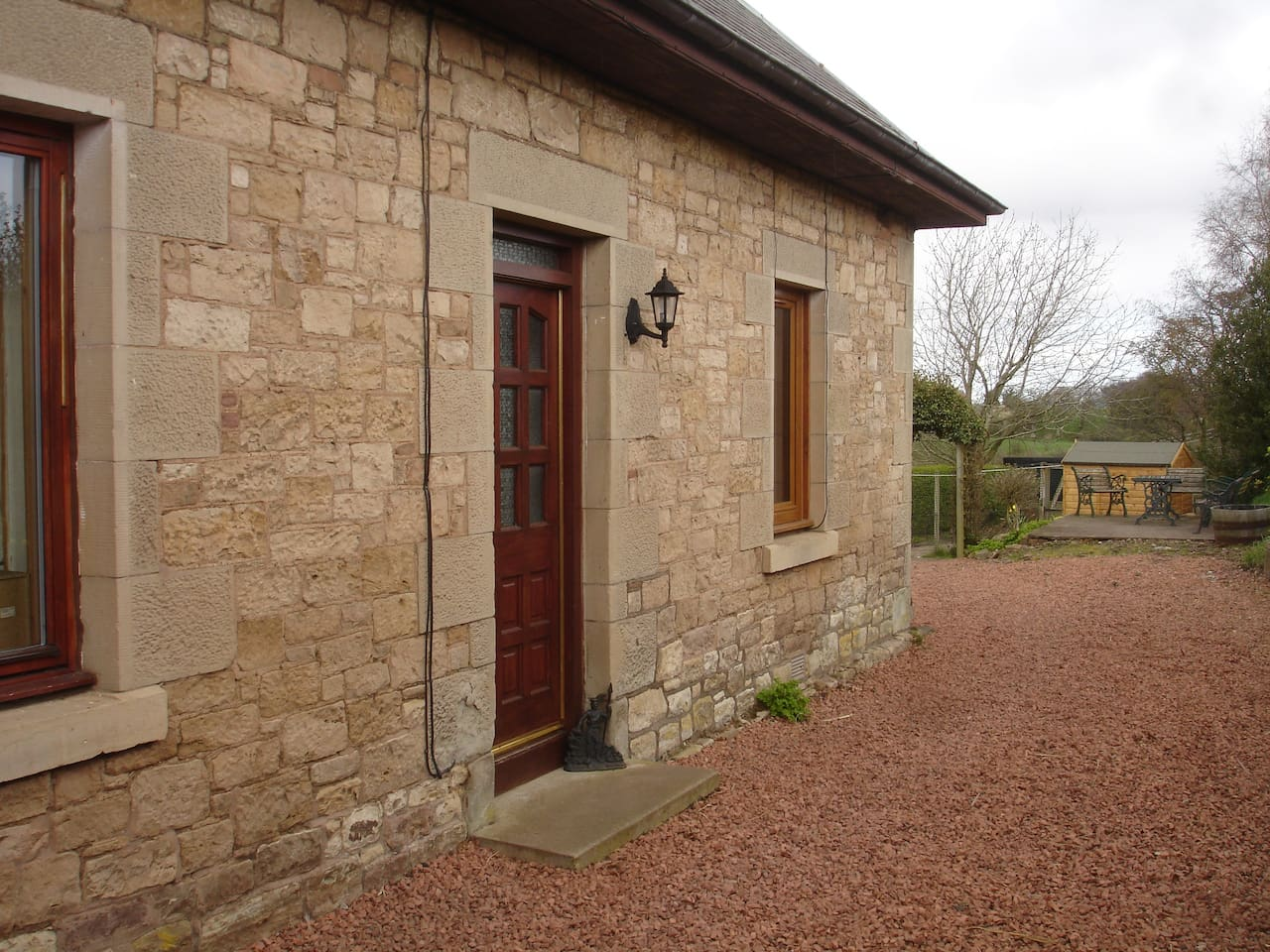 Rural setting with your own private access and secure parking